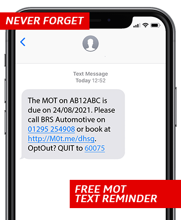 BRS Automotive MOT Text Reminders